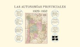 Las Autonomías Provinciales