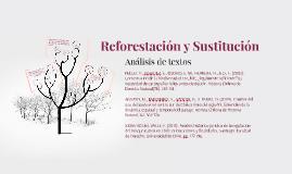 Reforestación y Sustitucion