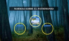 NORMAS SOBRE EL PATRIMONIO