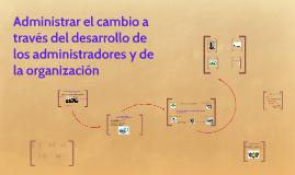 Copy of El proceso del desarrollo y capacitación del administrador