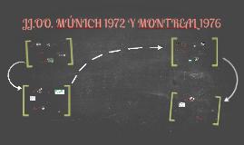 JJ.OO. MÚNICH 1972 Y MONTREAL 1976