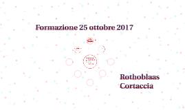 Formazione 25 ottobre 2017