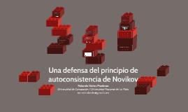 Una defensa del principio de autoconsistencia de Novikov