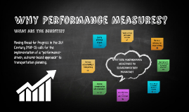 Why Performance Measures?