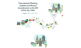 Procurement Planning Updates and Amendments to the IRR of RA 9184