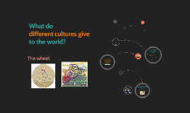 What do different cultures give to the world?