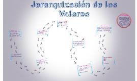 Jerarquizacion de los Valores