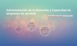 Administración de la Demanda y Capacidad de empesas de servi