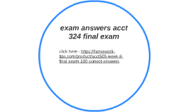 acct 201 final exam answers