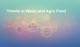 Trends in Water and Agro Food