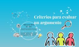 Copy of Criterios para evaluar un argumento