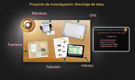 Proyecto de investigación: Reciclaje de telas