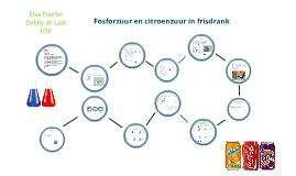 Fosforzuur en citroenzuur in frisdrank