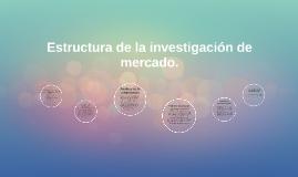 Estructura de la investigacion de mercado.