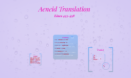 Aeneid Translation