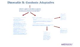 Dimensión II: Conducta Adaptativa