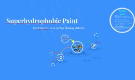 Superhydrophobic Paint