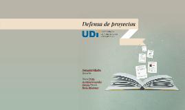 Defensa de proyectos