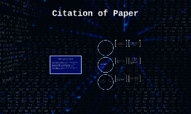 Citation of Paper