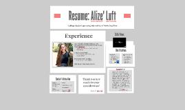 Resume: Alize' Luft