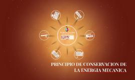 PRINCIPIO DE CONSERVACION DE LA ENERGIA MECANICA