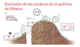 Exclusión de las mujeres en la politica de México
