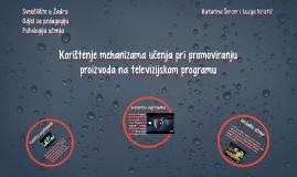 Korištenje mehanizama učenja pri promoviranju proizvoda na t