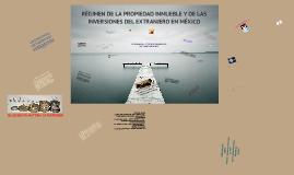 Copy of Copy of RÉGIMEN DE LA PROPIEDAD INMUEBLE Y DE LAS INVERSIONES DEL EXTRANJERO EN MÉXICO