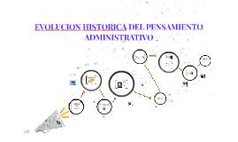 EVOLUCION HISTORICA DEL PENSAMIENTO ADMINISTRATIVO