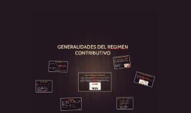 GENERALIDADES DEL REGIMEN CONTRIBUTIVO