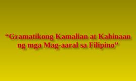 maling pagtingin sa wikang filipino