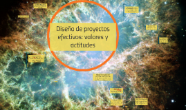 Diseño de proyectos efectivos: valores y actitudes