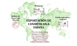 EXPORTACIÓN DE COSMÉTICOS A ESPAÑA