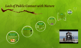 Lack of Public Contact With Nature