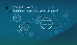 EDSE 4110 - Week 3