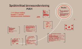 Språkinriktad ämnesundervisning, Pedagog Malmö Live