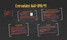 Enevælden 1660-1849