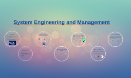 System Engineering and Management