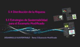 5.4 Distribución de la Riqueza - 5.5 Estrategias de Sustentabilidad para el EM