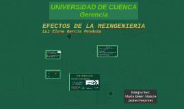 EFECTOS DE LA REINGENIERIA