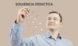 SOLVENCIA DIDACTICA