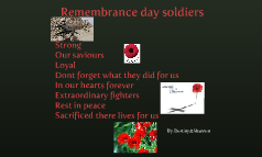Remembrance day soldiers