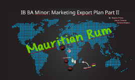 IB BA Minor: Marketing Export Plan