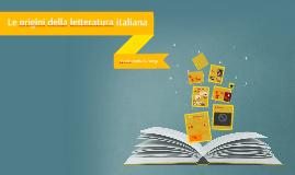 Le origini della letteratura italiana