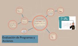 Evaluación de Programas y Acciones