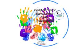 Child Behavior Management Skills: Instructional Training
