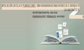 Copy of APLICACIÓN CRITICA DE PLANEACIONES: UNA HERRAMIENTA PARA FAV