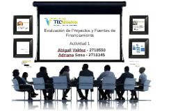Actividad 1 Evaluacion de proyectos y fuentes del financiamiento
