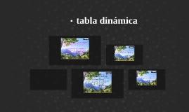 tabla dinámica