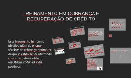 TREINAMENTO EM COBRANÇA E RECUPERAÇÃO DE CRÉDITO